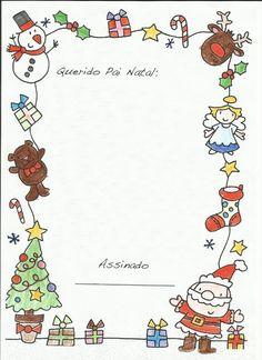 Folha de Carta Colorida Para o Pai Natal: