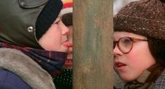 The famous tongue-getting-stuck-to-a-frozen-pole