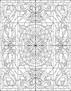 Butterfly Stained Glass Adult Coloring Pages by Joenay ...