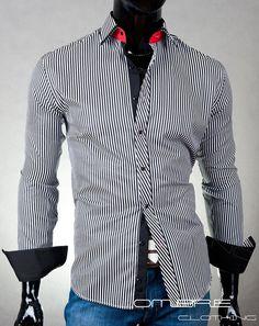 Košile Arco Baleno černo-bílá