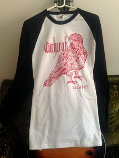 """Witchcraft Baseball """"Legend"""" Black sleeve XL via Official Witchcraft band merch. Click on the image to see more!"""