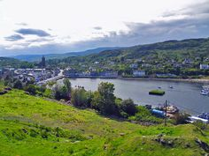 The village of Tarbert, Argyll and Bute, Scotland, is a nice stop on the way to Islay, just a few miles before the ferry terminal at Kennacraig. This view is from the ruins of Tarbert Castle.