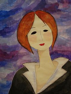 Amedeo Modigliani (1884-1920) was an Jewish/Italian fig. painter and sculptor who worked inParis, then the center of the avante garde at the beginning of the 20th century. He lived a life of poverty which also involved alcoholism, drug abuse and tragic love affairs. His life of excesswas ended byhis death, at only 35,from tuberculosis. Modigliani died penniless and destitute—managing only one solo exhibition in his life and giving his work away for meals in restaurants or to ex-girlfriends.