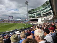 View from the boundary. England vs. West Indies day 4 at Headingley #EngvWI #headingleystadium #englandcricket #headingley #leeds #investectest #yorkshireccc #yorkshire