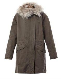 Yves Salomon Fur lined parka coat on www.stockholmmarket.com