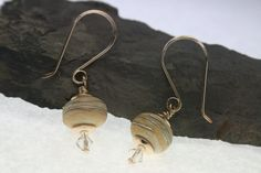 Gold Filled Lampwork Earrings. $65.00, via Etsy.