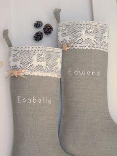 Personalized Burlap #Christmas #stockings  Price: $32.00
