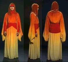 Star Wars Padme Amidala Handmaidens dress - Front, side and back view
