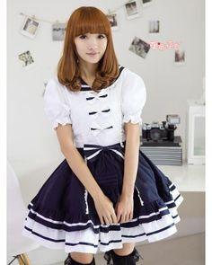Sailor College Style Lolita OP Dress