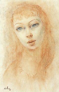Female portrait,   Moise Kisling