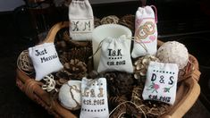 Excited to share the latest addition to my #etsy shop: Customized Pouches As Wedding Favors https://etsy.me/2qCgXos #weddings #beige #white #weddingfavors #crossstitch #madetoorder #monograms #xstitchesbykelly