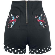 """#Pantaloncini donna """"Sailor Shorts"""" del brand Banjo and Cake con bottoni decorativi, 2 tasche laterali, tasche applicate sul retro e cerniera."""