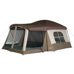 "The Wenzel Klondike family camping Tent is the top-selling family tent that family campers are really buying! ""Big Room"" design makes this tent a great choice for casual relaxed camping. Tenda Camping, Camping Bedarf, Best Tents For Camping, Cool Tents, Camping Checklist, Camping Essentials, Family Camping, Camping Hacks, Outdoor Camping"