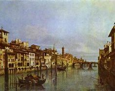 Arno in Florence - Bernardo Bellotto, 1742