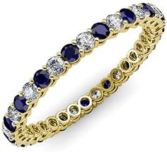 Your Personal Ejeweler..Perfect combination of Elegance and Beauty, this spectacular Eternity Band has Shared Prong set Blue Sapphire and Diamond with side gallery design that exude sheer brilliance and is highly flattering on the hand. #Trijewels #Ejeweler #Eternity #Diamond #Sapphire #EternityRing #WeddingBand #EternityBand #Ring #WomensRing #Gift #Love #Wedding #Engagement #Womenjewelry #JewelryBuyers #AnniversaryRing #Wedding #YellowGold #WhiteGold #RoseGold #StackableRing #Gold… Prong Set, Eternity Bands, Anniversary Rings, Blue Sapphire, Wedding Engagement, White Gold, Women Jewelry, Rose Gold, Jewels