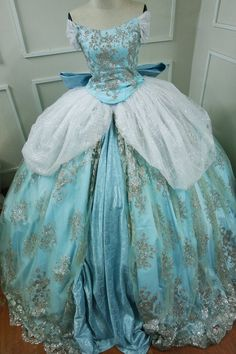 Sparkly Cinderella Dress - Disney Princess - Cinderella costume 💗 Dress make in all hight quality fabric , lace and hight technical . 💗Time to make dress will be 3 weeks . 💗Time for shipping will be 3-4 days delivery 💗 Dress including 9 hoops skirt . If customer want have 7 hoops
