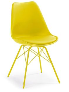 Ralf stoel metaal geel - LaForma