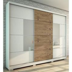 The Murphy creation's concept is: space optimization. Accordingly, the internal division helps with the organization and arrangement of clothes and objects. The sliding doors come with two built-in mirrors and high quality rollers, allowing smooth and comfortable functionality. Its many shelves,...