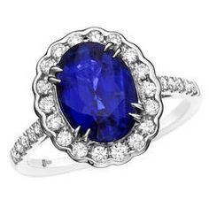 3.02 Carat No Heat Rich Blue Sapphire Diamond Gold Ring   From a unique collection of vintage cocktail rings at https://www.1stdibs.com/jewelry/rings/cocktail-rings/