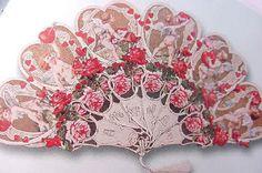>y< Vintage Victorian Paper Victorian Valentines, Vintage Valentines, Be My Valentine, Valentine Cards, Antique Fans, Vintage Fans, Vintage Ladies, Pretty Hands, Beautiful Hands