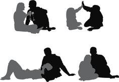 Vectores libres de derechos: Couple enjoying together