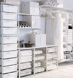 Antonius system, Ikea's least expensive clothing storage system. Great idea for my closet.