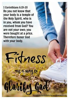 Fitness is good for the body but it also can be good for your spiritual growth! #Fitness, #GlorifyGod, #HealthandWellness