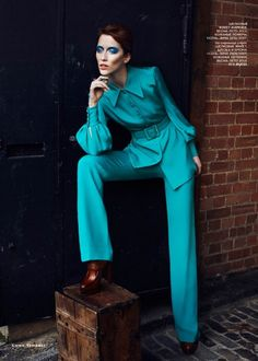 Alana Zimmer Channels David Bowie for Vogue Russia's March Issue by Emma Tempest