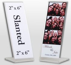 "40 Photo Booth Strip Frames (acrylic) Standard 2"" X 6"", 38% off 