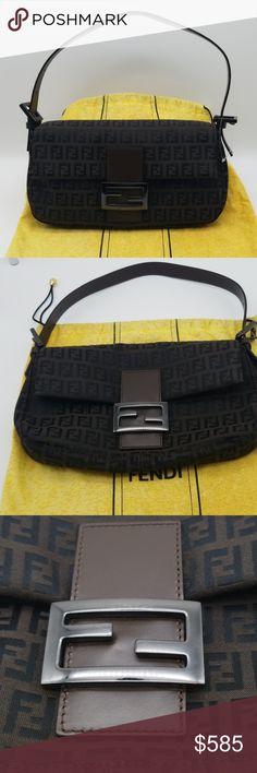 Fendi Zucca Baguette shoulder bag A just have vintage Fendi bag 98c5a574b6eba