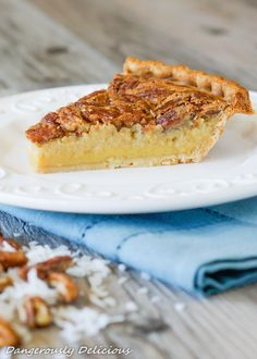 Cream of Coconut Pecan Pie (1 of 1)