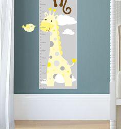jungle decal, yellow and grey nursery decor feat. cheeky monkey, a ... - Arredamento White Elephant