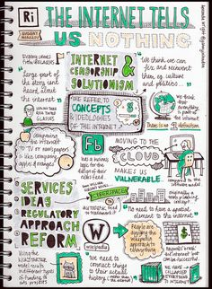 The Internet Tells Us Nothing @ RIGB, via Flickr. Study Skills, Study Tips, Study Ideas, Projekt Mc2, Visual Note Taking, Group Dynamics, Note Doodles, Teacher Boards, Pretty Notes