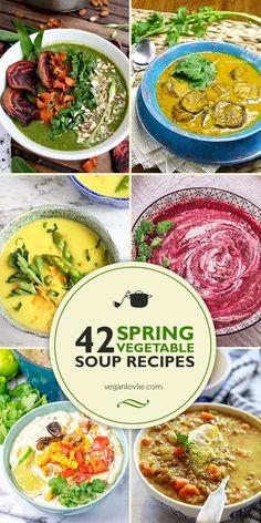 42 Spring Vegetable Soup Recipes Roundup, Vegan Soup Recipes  #springsoups #springrecipes #veganrecipes #vegan #soups #souprecipes #reciperoundup #veganlovlie