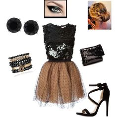 Club night by cindysuewho on Polyvore featuring polyvore fashion style RED Valentino Charlotte Russe UGG Australia Samantha Wills Anne Klein