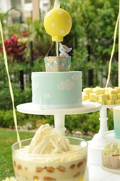 Hot Air Balloon Themed 1st Birthday Party with Lots of Really Cute Ideas via Kara's Party Ideas KarasPartyIdeas.com #hotairballoon #upupanda...