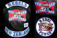 Biker Gang Patches Rebels motorcycle gang colours