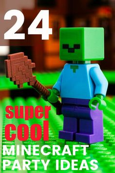 Need all the super cool Minecraft Birthday Parties? Food, decor, games and party favors Need all the super cool Minecraft Birthday Parties? Food, decor, games and party favors Birthday Party Games For Kids, 6th Birthday Parties, Boy Birthday, Birthday Ideas, Frozen Birthday, Birthday Favors, Birthday Cupcakes, Birthday Invitations, Minecraft Party Games