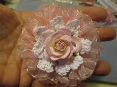 Shabby Chic Ruffled Wedding Flower Tutorial - jennings644 - YouTube