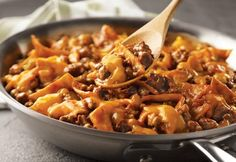 Campbell's Beef Taco Skillet Recipe -it tastes good, only uses one pan, and calls for common ingredients... This may be my favorite dinner.