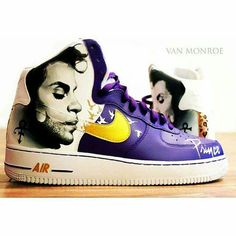 Custom Prince Nike Air Van Monroe
