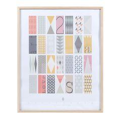 Toile motifs triangle multicolore 70 x 70 cm vintage - Maison du monde tableau oriental ...