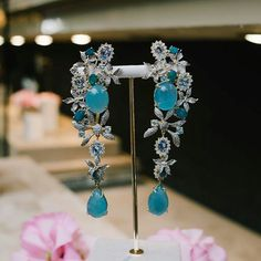 @goldesignbrazilianjewellery. A monday with style with this beautiful acqua marine earring!