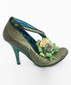 Take a look at this Light Green I'm in Vegas Pump by Irregular Choice on #zulily today!