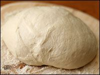 Sourdough dough.  History, make from scratch starter info  and recipe for pancakes.