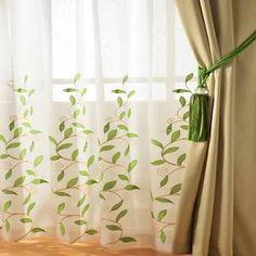 Image result for green leaf curtains