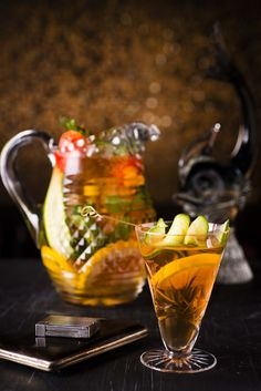 A twist on a Pimms cup – very simple and refreshing!Cook's tip: When doing multiple cocktails from 1 shaker/mixing glass/jug, do not fill your serving glasses one by one. Vegan Gluten Free, Vegan Vegetarian, Currant Fruit, Glass Jug, Fruit Drinks, Ginger Beer, Xmas Ideas, Lemonade, Affair