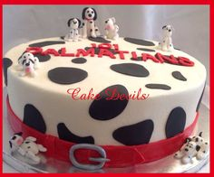 Handmade Dalmatians Dog Cake Topper Kit Decorations Fondant Edible
