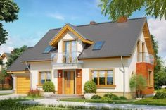 Projekt domu KR Enklawa z garażem - DOM KR3-41 - gotowy projekt domu