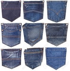 collection of different jeans pocket isolated on white. - Men's style, accessories, mens fashion trends 2020 Cargo Jacket Mens, 1950s Jacket Mens, Bomber Jacket, Leather Jacket, Denim Jeans Men, Jeans Pants, Man Jeans, Camisa Polo, Jeans Style